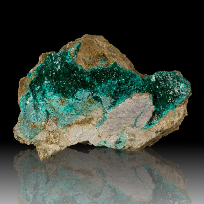 "5.6"" Gemmy Green DIOPTASE Terminated Crystals w/WetLook Luster Congo for sale"