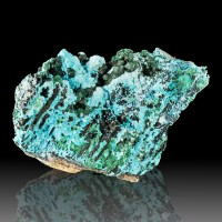 "6.1"" Beautiful Showy Botryoidal Baby Blue CHRYSOCOLLA w/MALACHITE Congo for sale"
