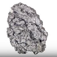 "2.4"" Bright Silver Gray GALENA Rare Flat Triangular Crystals Bulgaria for sale"