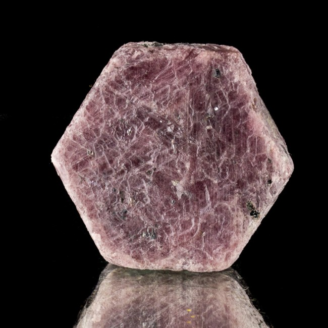 "1.6"" 401ct Red Purple RUBY CRYSTAL w/Dozens of RECORD KEEPER Triangles for sale"