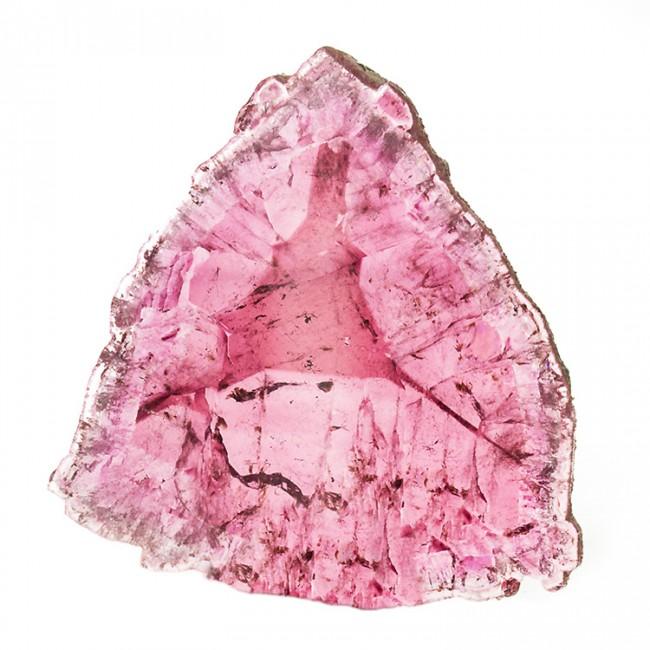 "1.7"" 54.2ct Polished Crystal Slice LIDDICOATITE TOURMALINE 3-Point Star for sale"