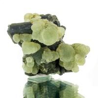 "2.5"" AppleGreen PREHNITE Balls w/HiContrast Black EPIDOTE Crystals Mali for sale"