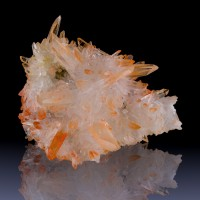 "3.5"" Intense Orange Gem Clear TANGERINE QUARTZ Flashy Crystals Morocco for sale"