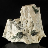 "6.7"" Sharp LightGray MICROCLINE Twin Crystals to 3.5"" w/Aegerine Malawi for sale"