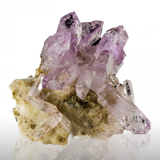 "2.7"" Lavender-Violet Gem AMETHYST SeeThru Crystal Group Veracruz Mexico for sale"