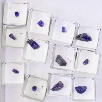 Wholesale Flat SapphireBlue TANZANITE Crystals 12 pieces @ $17 Tanzania for sale