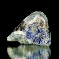 """2.4"""" Triangular Blue BENITOITE Crystals w/Neptunite on Matrix Benito CA for sale"""