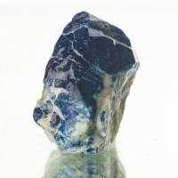 "1.2"" LAZURITE LAPIS LAZULI RoyalBlue Crystal inWhite Marble Afghanistan for sale"