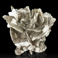 "3.1"" Silver MUSCOVITE MICA Sharp Intersecting Pristine Crystals Brazil for sale"