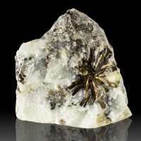 """3.3"""" Metallic Bronze ASTROPHYLLITE Crystals in Radial Starbursts Russia for sale"""