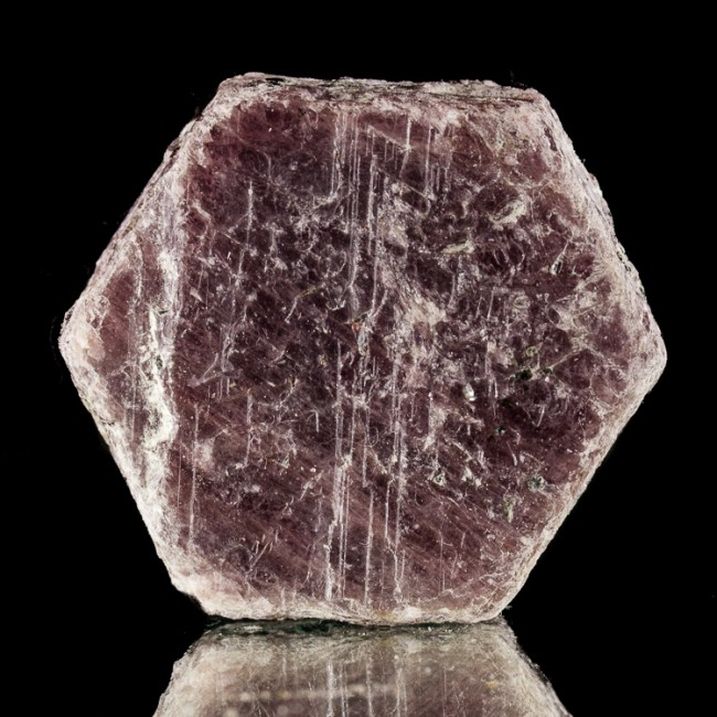 """1.7"""" 408ct Maroon Red RUBY Crystal w/Dozens of RECORD KEEPER Triangles for sale"""