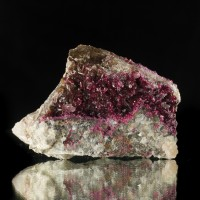 "2.7"" Flamboyant Magenta Red ROSELITE Sharp Sparkling Crystals Morocco for sale"