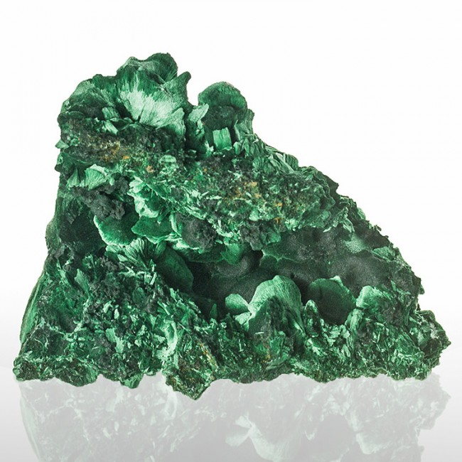 "3.8"" Rain Forest Green Sleek Silky FIBROUS MALACHITE Crystals Congo for sale"