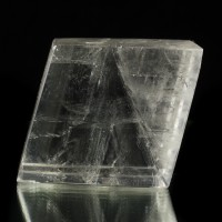 "4"" Utterly Clear ICELAND SPAR w/Rainbows Polished Crystal Rhomb Brazil for sale"