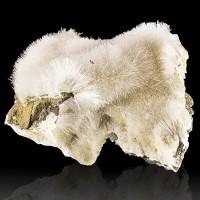 "4.2"" AcicularBalls of NATROLITE ClearWhite Crystals onBasalt Washington for sale"