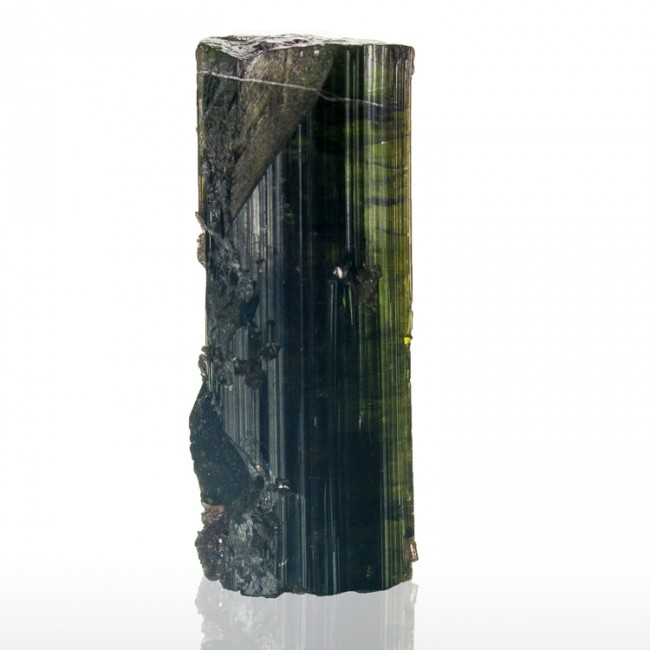 "1.4"" 69.5ct WATERMELON TOURMALINE Crystal DarkGreen Rind+RedCore Brazil for sale"