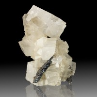 """4.2"""" Gem Clear Rhombohedral MAGNESITE Crystals to 2"""" w/HEMATITE Brazil for sale"""