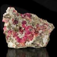 "3.2"" Vibrant Magenta-Red RASPBERRY GARNET Crystals onWhiteMatrix Mexico for sale"