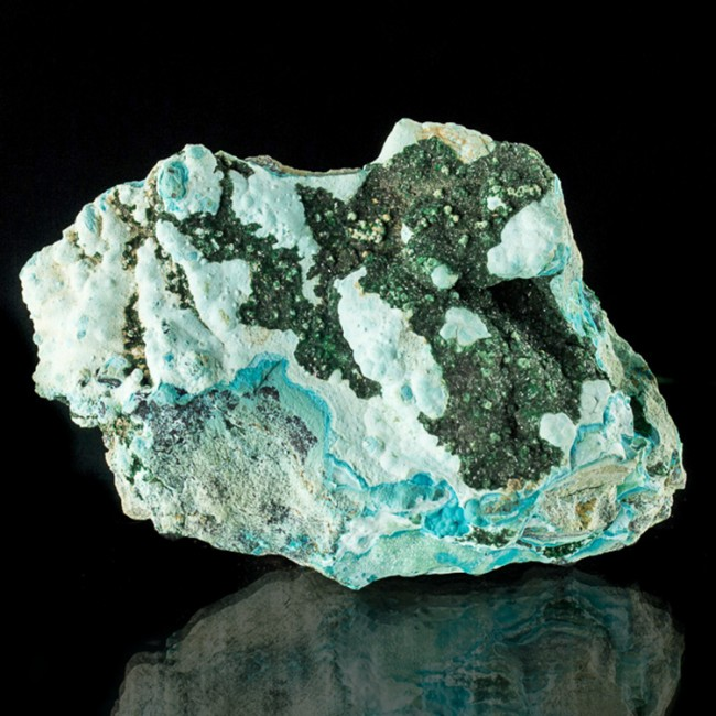 "4.9"" Beautiful Sky Blue Turquoise CHRYSOCOLLA w/Green MALACHITE Congo for sale"