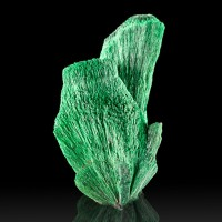 "1.8"" Flashy Electric Green Silky FIBROUS MALACHITE CrystalSprays Tsumeb for sale"