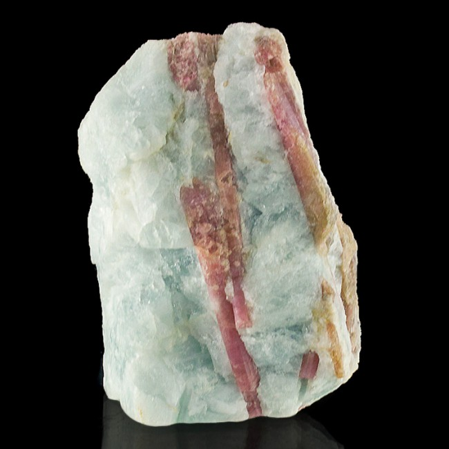 "3.2"" Rich PINK TOURMALINE Lovely Lustrous Crystals in Aquamarine Brazil for sale"