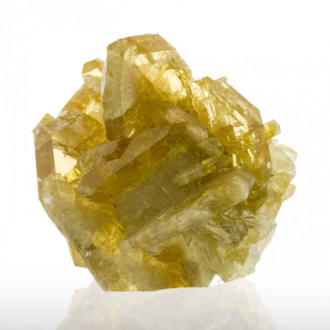 """2.6"""" Meikle Mine GOLDEN BARITE Pristine Gemmy Wet-Look Crystals Nevada for sale"""