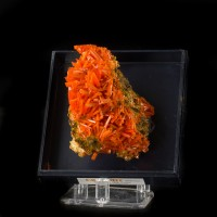 "2.7"" Square Hollow CROCOITE CRYSTALS in Brilliant Red-Orange Tasmania for sale"
