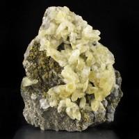 "4.5"" Light Golden CALCITE Over Sparkling CHALCOPYRITE & GALENA Missouri for sale"