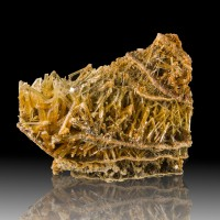 """4"""" Gemmy Brown Terminated SELENITE Crystals in 5 Layer Sequence Poland for sale"""