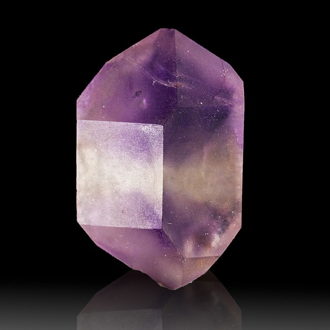 "1.3"" HOURGLASS AMETHYST DoublyTerminated Purple Phantom Crystal Morocco for sale"