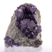 """2.9"""" Sharp Octahedral Crystals of Dark Purple CERMIKITE LabGrown Poland for sale"""