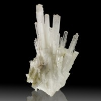 "6.1"" WaterClear SCOLECITE SharpShinyRadiating Terminated Crystals India for sale"