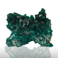 "1.9"" Dark Green DIOPTASE Sharp Gemmy Wet-Look Crystals to 8mm Congo for sale"