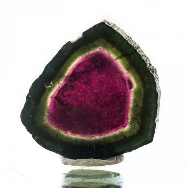".9"" 20.5ct Red & Green GEM WATERMELON TOURMALINE Polished Slice Brazil for sale"