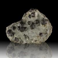 """7.4"""" ALMANDINE GARNET 20 SharpShiny DarkRed Crystals to 1""""in Matrix CT for sale"""