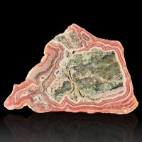 "4.2"" Polished RHODOCHROSITE STALACTITE Slice Red-White-Pink Argentina for sale"