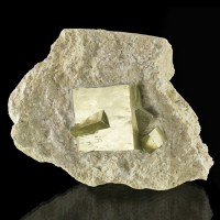 "4.2"" Matrix Piece with Near-Perfect Sharp PYRITE Crystals Navajun Spain for sale"