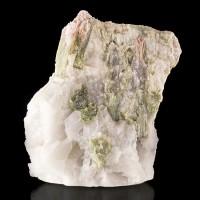 "5.4"" MILKY QUARTZ Shot Through w/WATERMELON TOURMALINE Crystals Brazil for sale"