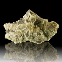 "3.8"" Rare Classic PARAVAUXITE LightGreen Gemmy Crystals pre1967 Bolivia for sale"