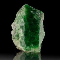 "1.8"" 255ct Colorful Grass Green TSAVORITE GARNET Gemmy Crystal Tanzania for sale"