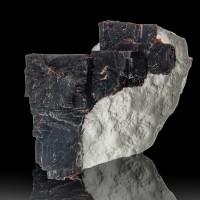 "2.3"" Deep Purple Red VILLIAUMITE Rare Sharp Shiny Crystals Kola Russia for sale"