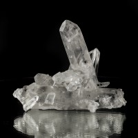 "4.8"" 3-Dimensional Group of TIBETAN QUARTZ Terminated Crystals Tibet for sale"