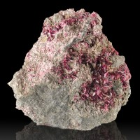 "3.1"" BrilliantFlashy ERYTHRITE MagentaPurple Crystals on Matrix Morocco for sale"