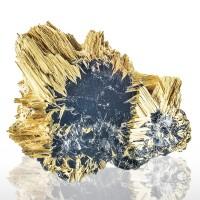"3.5"" Superb Golden RUTILE Needle Crystals Epitactic on HEMATITE Brazil for sale"