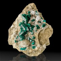 "2.7"" Wet-Look Emerald Green DIOPTASE Sharp Crystals to 14mm Kazakhstan for sale"