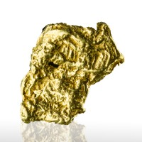 ".8"" 4.8g Bright Shiny Butter Yellow Flattened Placer GOLD NUGGET Alaska for sale"