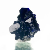 """.9"""" Wet-Look Electric Blue AZURITE Crystals to 12mm Milpillas Mexico for sale"""