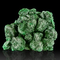 "2.2"" FIBROUS MALACHITE SilkyDarkGreen Chatoyant Crystals Pristine Congo for sale"