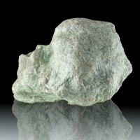 "5.7"" Mint Green TALC Foliated Crystals Softest Mineral on Earth Vermont for sale"