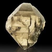 """4.1"""" Gem SMOKY QUARTZ GWINDEL Twisted Rotating Crystal Mt Blanc France for sale"""